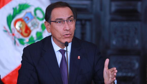 El presidente Martín Vizcarra dijo que no se puede tener en incertidumbre al país por una nueva moción de vacancia en su contra. (Foto: Presidencia del Perú)
