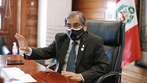 Ex ministro de Salud, Óscar Ugarte. (Joel Alonzo/ @photo.gec)