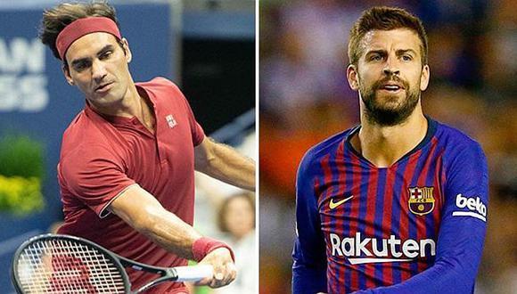 Enfrentados: Roger Federer y la dura crítica contra Gerard Piqué