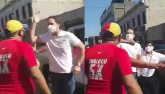 El candidato a la presidencia, Daniel Salaverry protagonizó un bochornoso incidente en el interior del país con un ciudadano venezolano