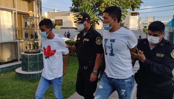 Los extranjeros capturados en delito flagrante fueron llevados a la Depincri de Surco. (Municipalidad de Surco)