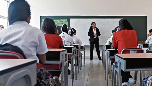 El gobierno de Francisco Sagasti busca que las clases escolares del próximo año sean presenciales. (GEC/Imagen referencial)