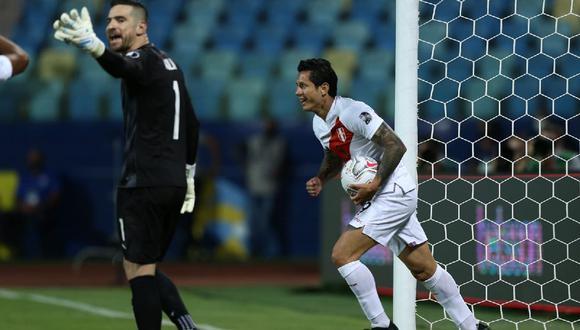 Gianluca Lapadula lleva tres goles en la Copa América. (Jesús Saucedo/ GEC)