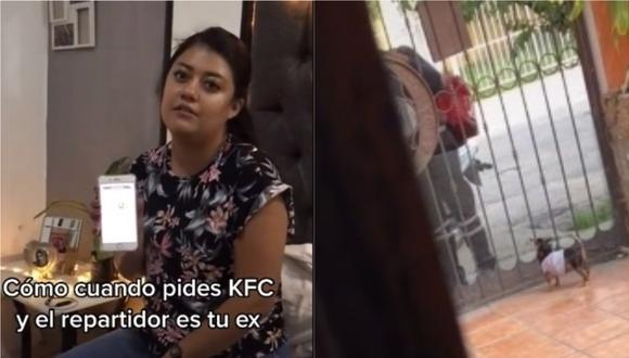 Una chica pidió un delivery de KFC pero grande fue su sorpresa al ver que el repartidor era su ex.