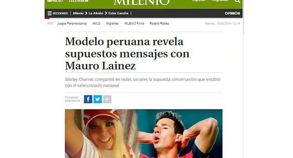 ¡Polémica en México! Así informaron los medios aztecas el 'ampay' de Shirley Cherres con Mauro Lainez   FOTOS