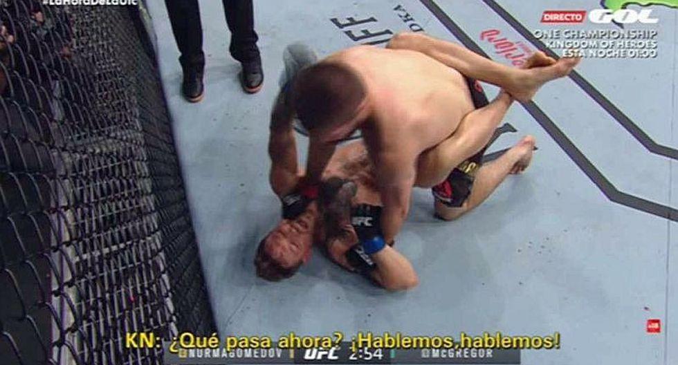 Filtran la humillación verbal de Khabib a McGregor en plena pelea
