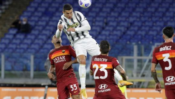A los 68′, Cristiano Ronaldo anotó su doblete para el 2-2 de Juventus ante Roma, por la Serie A de Italia.