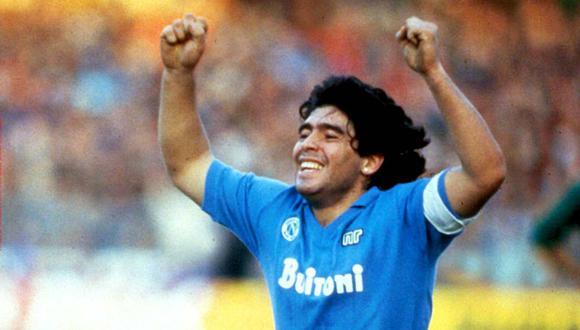 Napoli recordó a Diego Maradona, a un mes de su muerte. (Foto: @sscnapoliES)