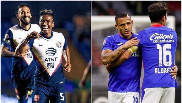 América vs. Cruz Azul: se enfrentarán en la jornada 15 del Torneo Clausura 2021 de la Liga MX | Fotos: Twitter