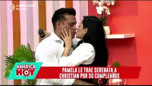 Christian Domínguez es sorprendido con romántica serenata por su cumpleaños