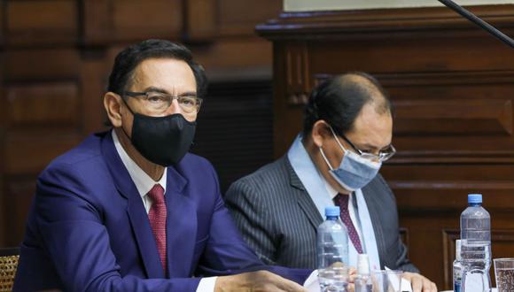 El expresidente Martín Vizcarra se presentó ante la Comisión Permanente el último jueves 8 de abril para exponer sus argumentos de defensa. (Foto: Congreso)