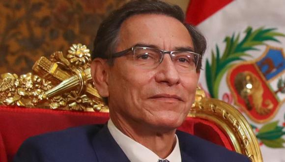 Martín Vizcarra, conferencia de prensa desde Palacio de Gobierno hoy 04 de agosto 2020. FOTO: Presidencia Perú