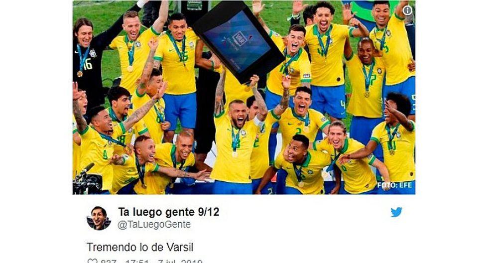 Selección peruana: Mira los mejores memes del Brasil campeón de la Copa América   FOTOS