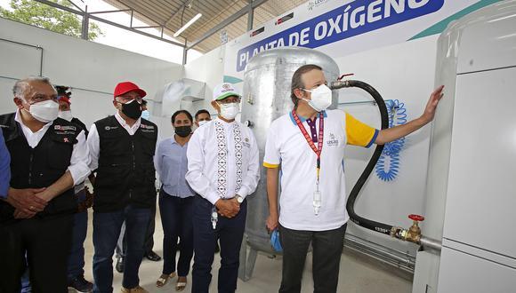 La planta de oxígeno medicinal, adquirida e importada desde Francia, inició sus operaciones en el Hospital II – E de Lamas. (Foto: Proyecto Legado)