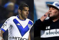 Luis Abram se acercó y saludó con un beso a Diego Armando Maradona tras el empate entre Gimnasia y Vélez Sarsfield [VIDEO]