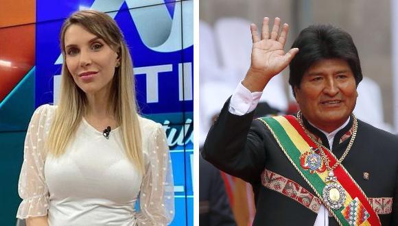 La periodista criticó la permanencia del político boliviano en lujoso hotel de Lima.