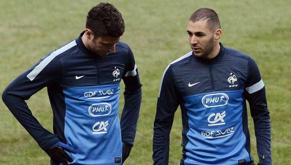 Un capítulo más del enfrentamiento entre Karim Benzema y Olivier Giroud. (Foto: AFP)