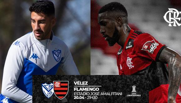 Vélez Sarfield y Flamengo debutan en vivo y en directo en la Copa Libertadores de América por el Grupo G.