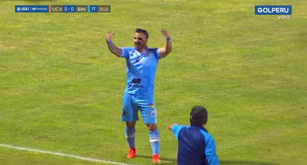 Juan Pablo Vergara anotó golazo de tiro libre en el Mansiche a la César Vallejo   VIDEO