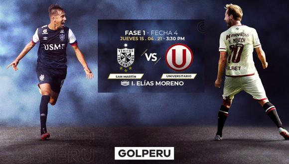 Universitario vs. San Martín se enfrentan mañana en vivo por la fecha 4 de la Liga 1, conoce los horarios y canales de televisión del encuentro
