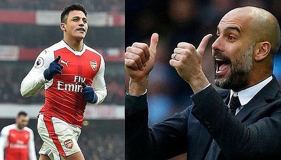 Guardiola felicita a Alexis Sánchez tras rumores de fichaje al United