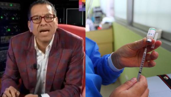Funcionario fue retirado del cargo del Minsa luego de que se denunciara que había ofrecido vacunar a la madre. (Captura: Willax/Hugo Curotto/GEC)