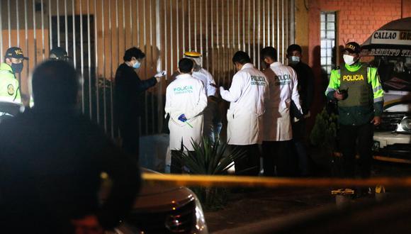 Chofer de taxi colectivo fue asesinado de 14 balazos en La Perla. (Foto: César Grados/@photo.gec)