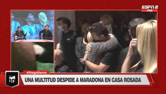 Diego Maradona: Marcelo Gallardo se despide de su amigo en la Casa Rosada (Foto: ESPN)