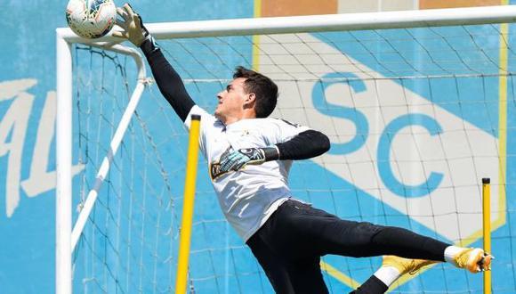 Alejandro Duarte atajó el primer partido de Sporting Cristal en la Liga 1 2021. (Foto: Sporting Cristal)