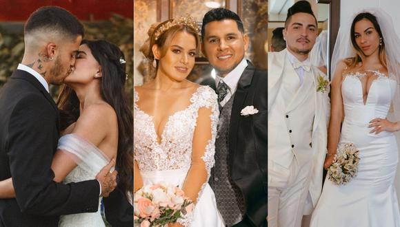 Estas son algunas de las bodas más sonadas de la farándula local. (Foto: Composición de Instagram)