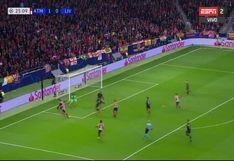 Atlético Madrid vs. Liverpool: Alisson realizó espectacular atajada y en la contra le anularon un gol a Salah | VIDEO