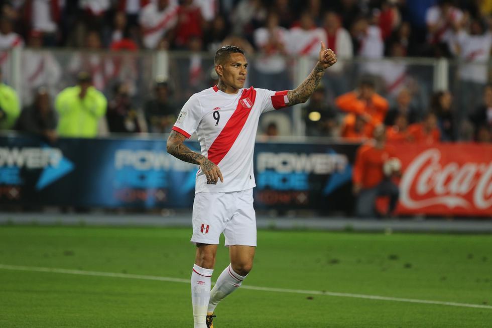 Paolo Guerrero autor del gol de empate ante la selección de Colombia. Lima, 10/10/2017. (GEC Archivo)