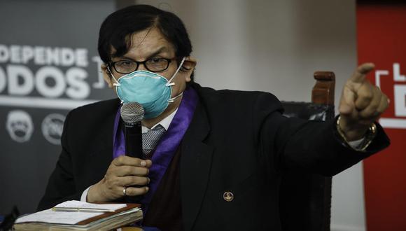 El CMP ya había informado, mediante un comunicado, que el vicedecano de la institución, el doctor Ciro Maguiña, se encontraba en aislamiento por presentar síntomas de COVID-19. (Foto: Joel Alonzo/GEC)
