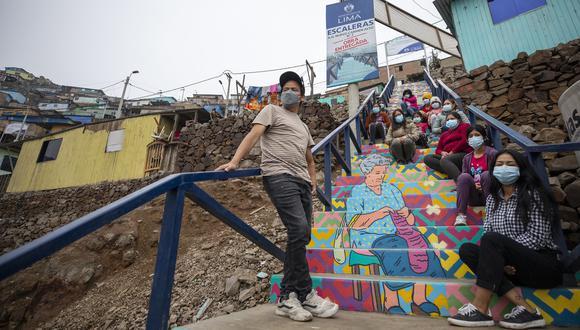 Así lucen las escaleras de siete barrios de los distritos de Comas, Ate y San Juan de Lurigancho. (Foto: Municipalidad de Lima)
