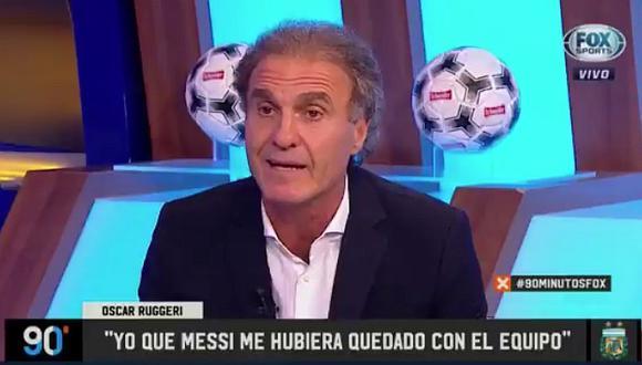 Óscar Ruggeri dispara contra Messi tras abandonar la Selección Argentina