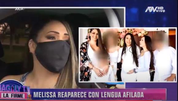 """Melissa Klug se defiende de críticas por asistir a baby shower de Samahara Lobatón: """"La alegría nos ganó"""". (Foto: Captura de video)"""