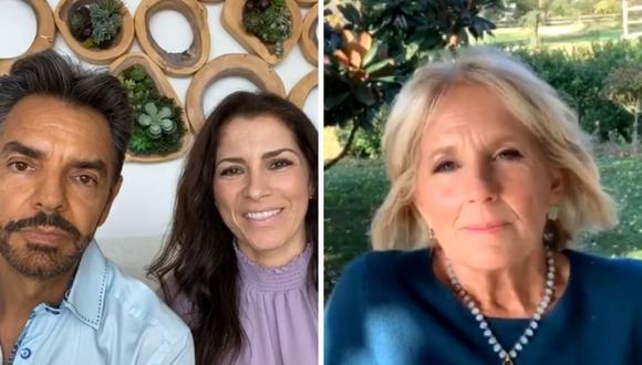 Jill Biden y los esposos Derbez mantuvieron una charla sobre el futuro de los latinos en EE.UU.. (Foto: Instagram @ederbez).