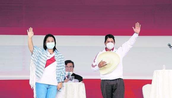 Elecciones: Pedro Castillo le pide a Keiko Fujimori debatir con la presencia de sus padres (Fotos: Hugo Pérez / @photo.gec)