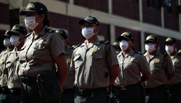 Cifra de policías que han dado positivo al COVID-19 asciende a 33.720. (Foto: GEC)