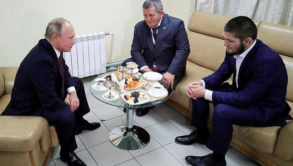 Putin recibió a Khabib y 'justificó' lo ocurrido en la UFC