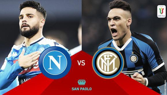 Napoli - Inter EN VIVO Gratis: Coppa Italia 2020 streaming   Foto: Serie A - Twitter