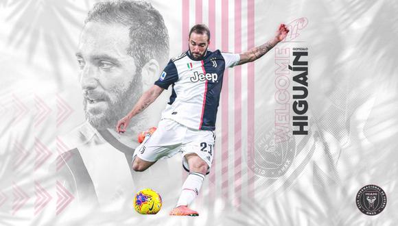 Gonzalo Higuaín fue anunciado como nuevo refuerzo del Inter de Miami. (Foto: Inter de Miami)