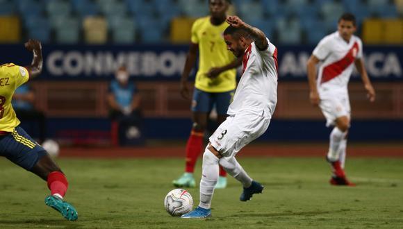 Sergio Peña anotó el primer gol del partido. Es su primer tanto con la selección. (Foto: selección peruana)