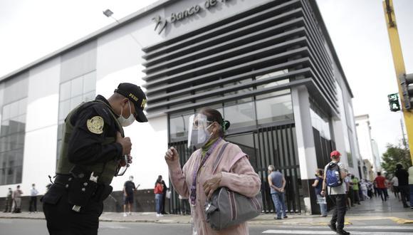 Como parte de la entrega del Bono 600 soles, el Banco de la Nación ha lanzado la campaña #AgenciasLibres. (Foto: Anthony Niño de Guzman / GEC)