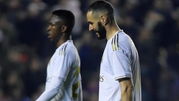 Las polémicas palabras de Karim Benzema en el entretiempo del juego por Champions League. (Foto: AFP)