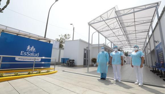 La ampliación del Hospital Carlos Alcántara de EsSalud permitirá la instalación de nueve camas para pacientes. (Seguro Social)