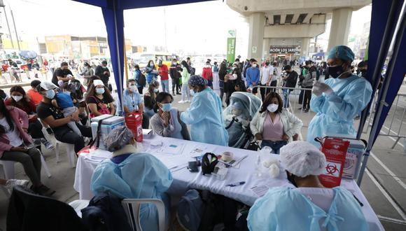 La primera jornada de vacunación contra el COVID-19 en las estaciones de la Línea 1 del Metro de Lima se desarrolló desde el 22 al 25 de setiembre. (GEC)