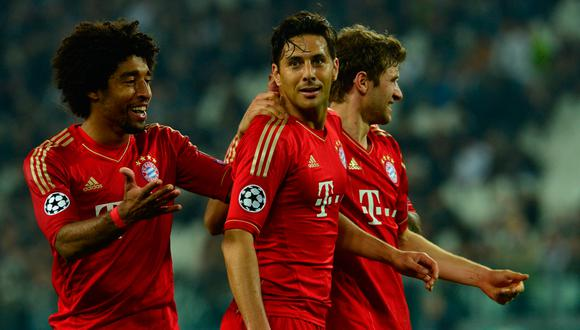 Pizarro fue por varias temporadas titular en el Bayern Múnich y ganó la Champions del 2012-13. (Foto: AFP)