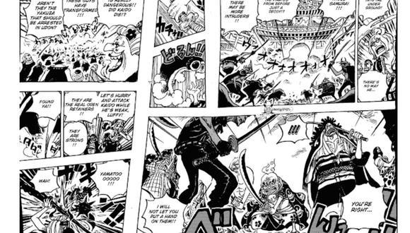 One Piece manga 987 La caída de Kaidou y la llegada de los Mink