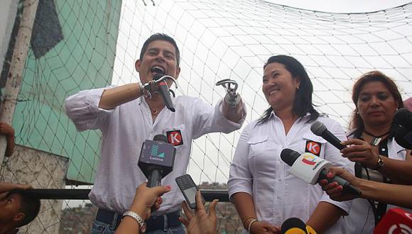 Luis Galarreta aseguró que Keiko Fujimori reció llamadas de grupos, instituciones y organizaciones que le dan su respaldo.  (Foto: Alonso Chero/ Archivo El Comercio)